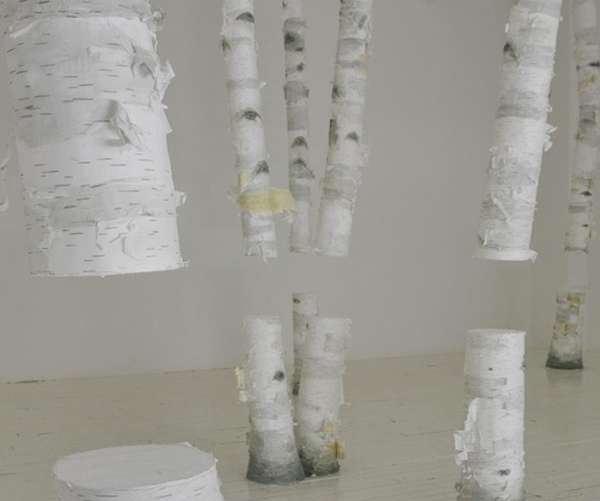 Sliced Birchwood Exhibits