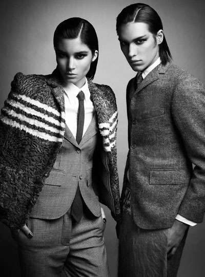 Stoic Androgynous Fashion : Max Abadian for Flare December ...