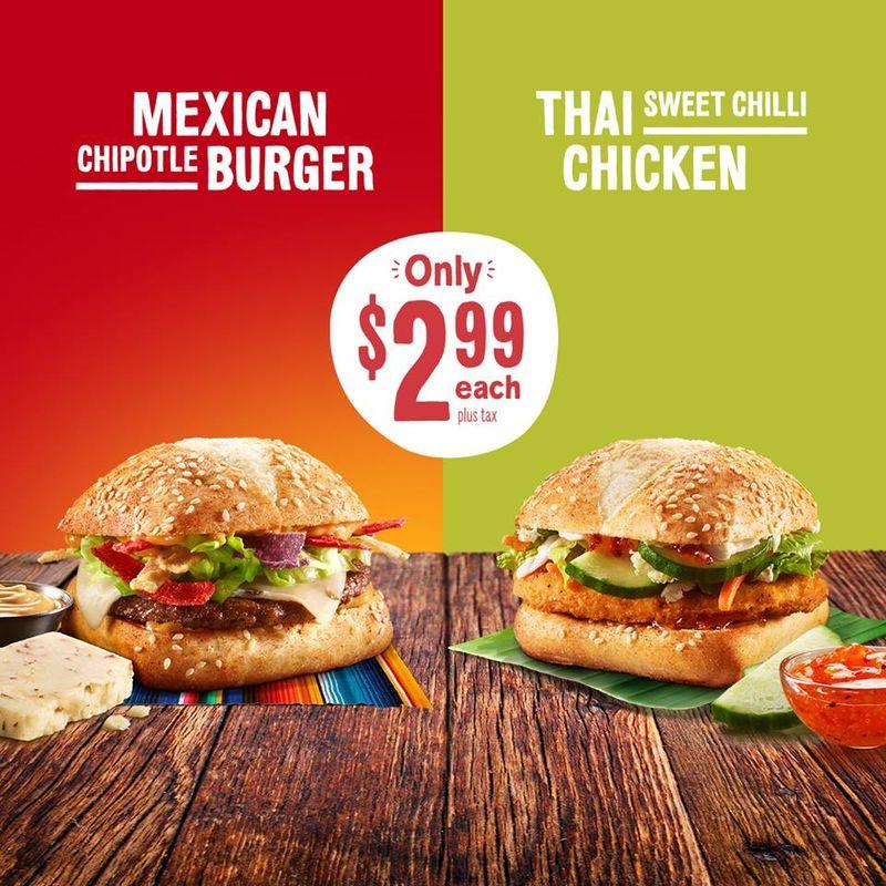 Internationally Inspired Burger Menus