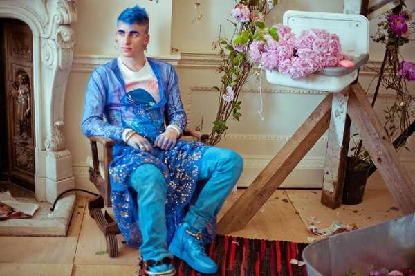 Psychedelic Feminine Menswear