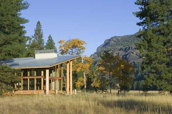Asymmetrical Log Housing