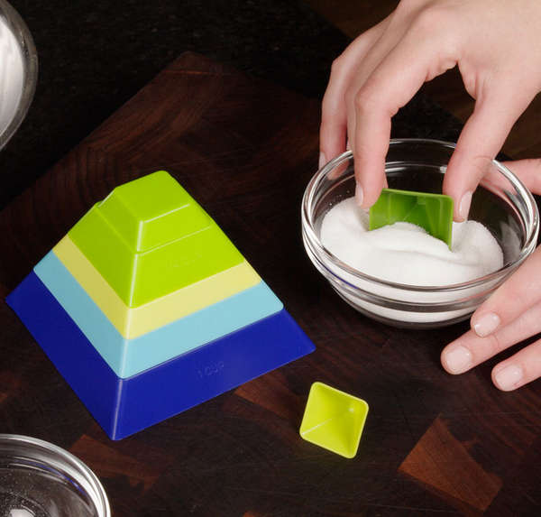 Stackable Pyramid Measuring Cups