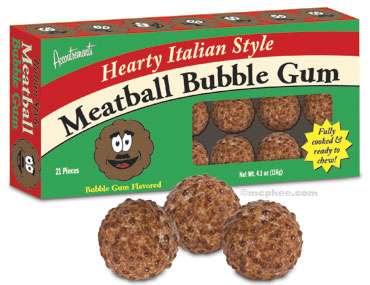 Blowing Meat Bubbles