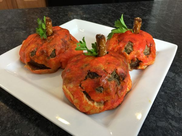 Pumpkin-Themed Meatballs