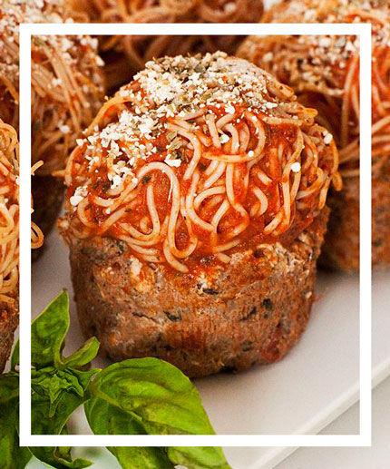 Spaghetti-Topped Cakes
