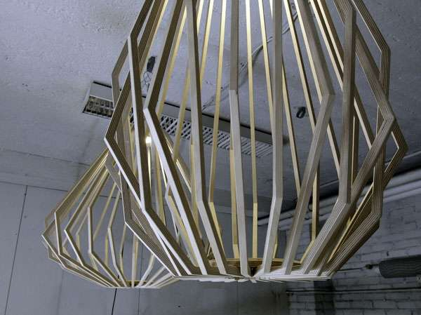 Wooden Caged Chandeliers