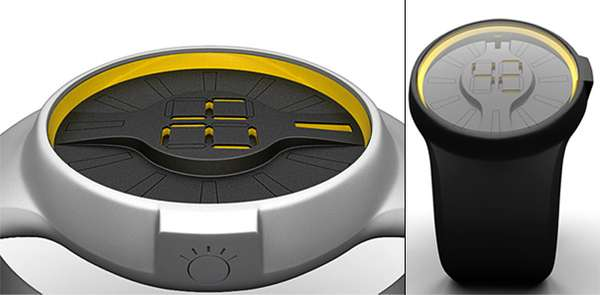 Mechanized Digital Watch