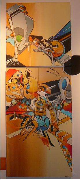 Robot War Graffiti