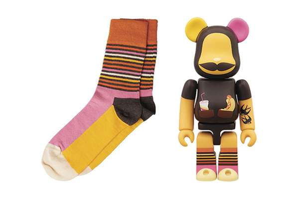 Medicom Toy x Happy Socks Bearbrick