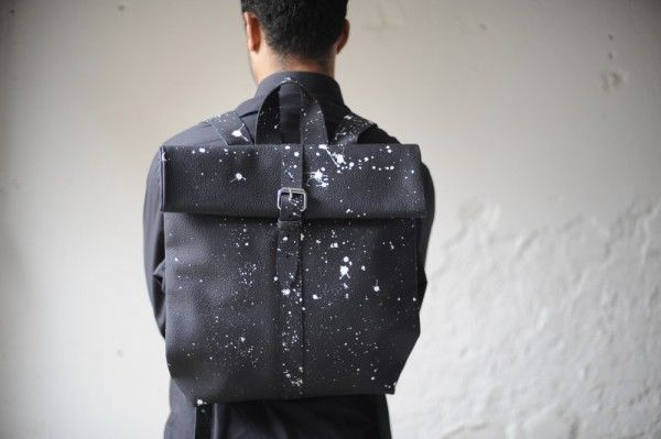 Paint-Splattered Bags