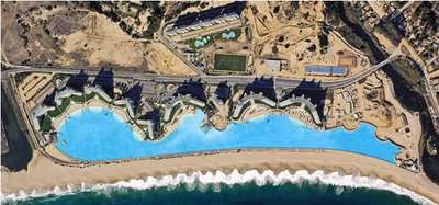 Mega pools boat or swim in the world 39 s largest pool at san alfonso del mar for San alfonso del mar swimming pool