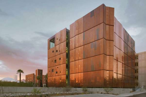 Copper Covered Architecture Meinel Optical Sciences Building