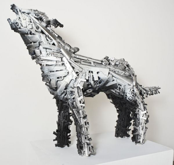 Toy Gun Taxidermy Sculptures