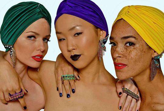 Multi-Hued Headwraps
