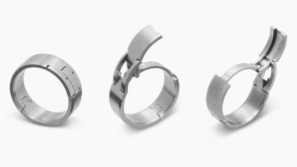 Hinged Wedding Rings