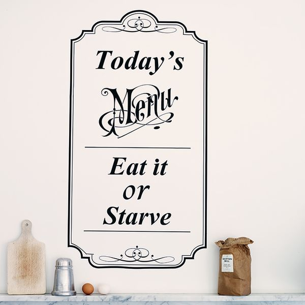 menu wall sticker