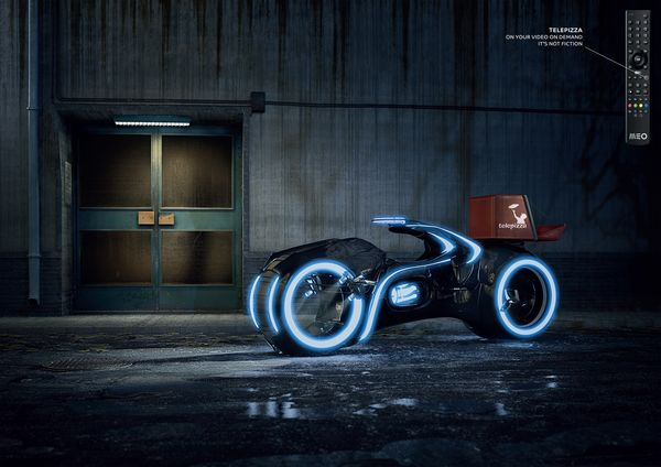 Fictional Motorcycle Delivery Ads