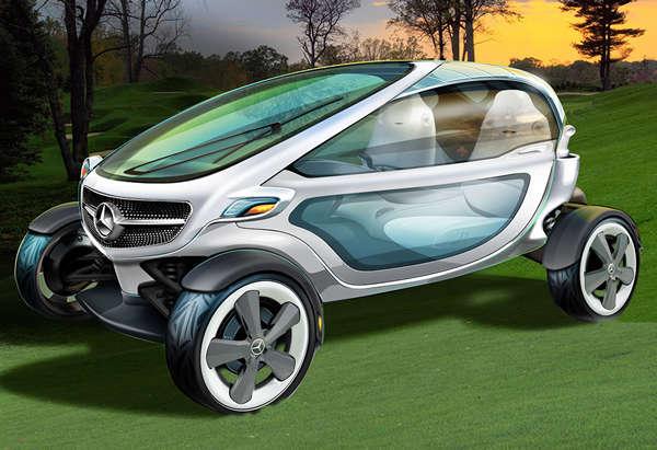 Sleek Futuristic Golf Carts