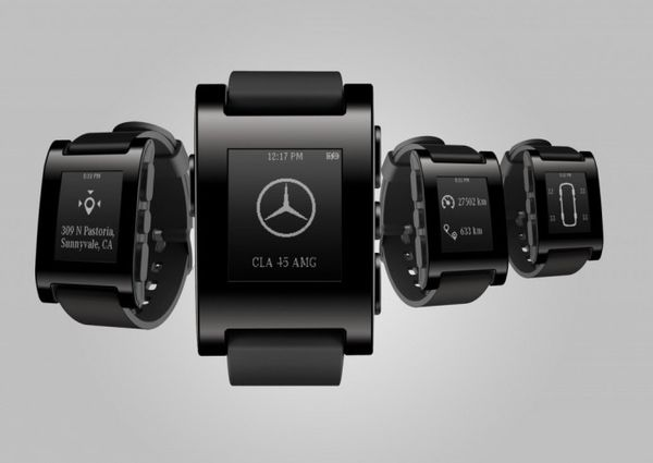 mercedes pebble smartwatch