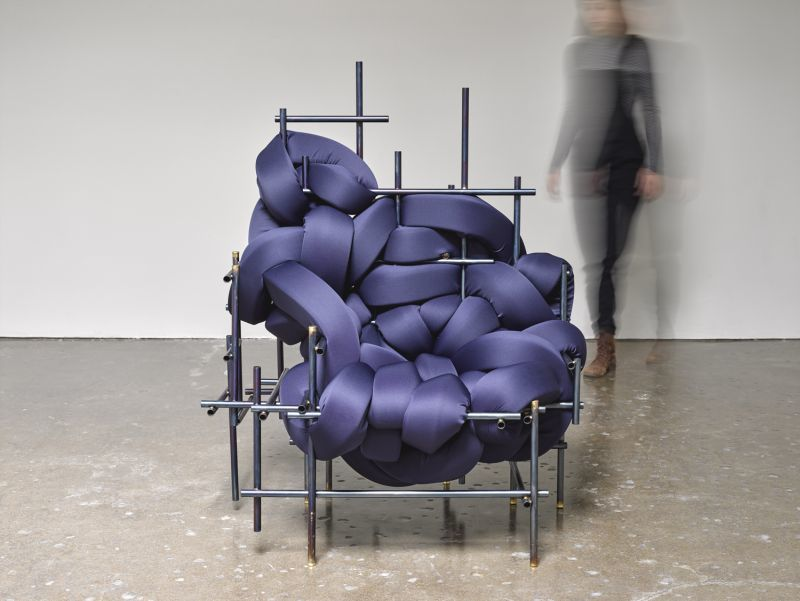 Abstract Interwoven Cushion Chairs