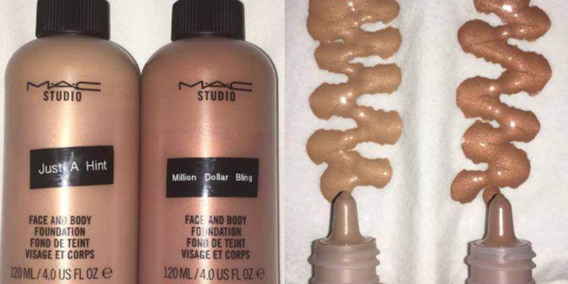 Metallic Foundation Makeup