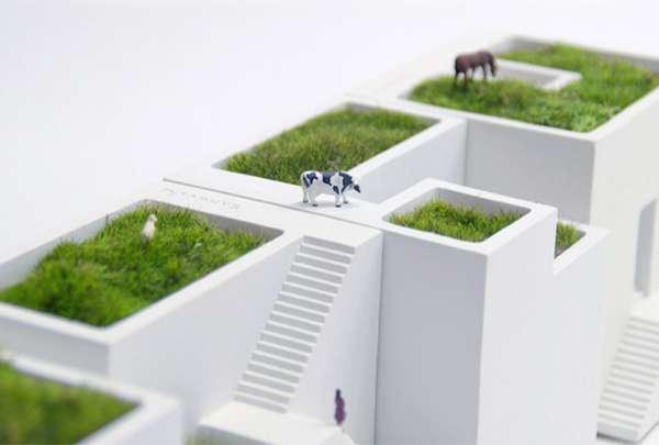 Model Townhouse Plant Pots