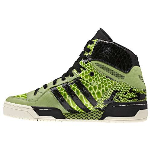 Lime Snakeskin Sneakers