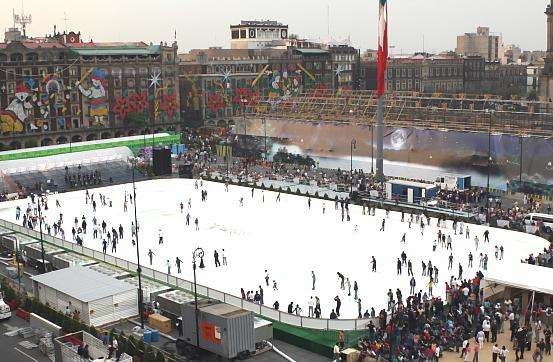Mexico City's Mega Skating Rink