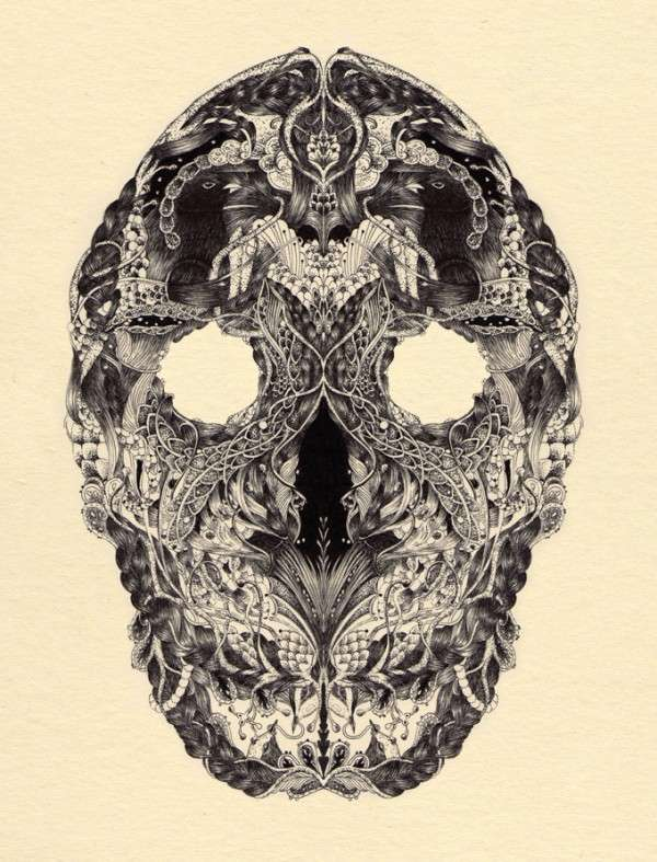 Adorned Skull Illustrations