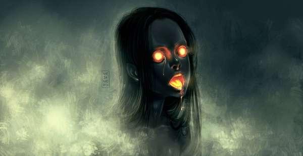 Ember-Eyed Female Illustrations