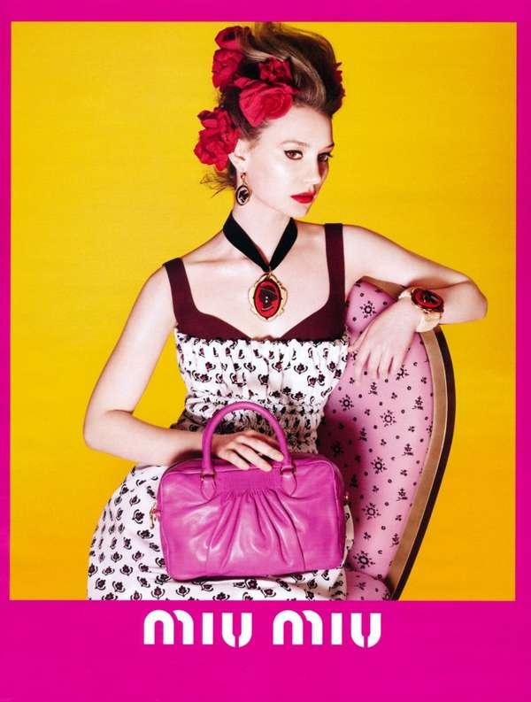 Neon Floral Fashion Campaigns