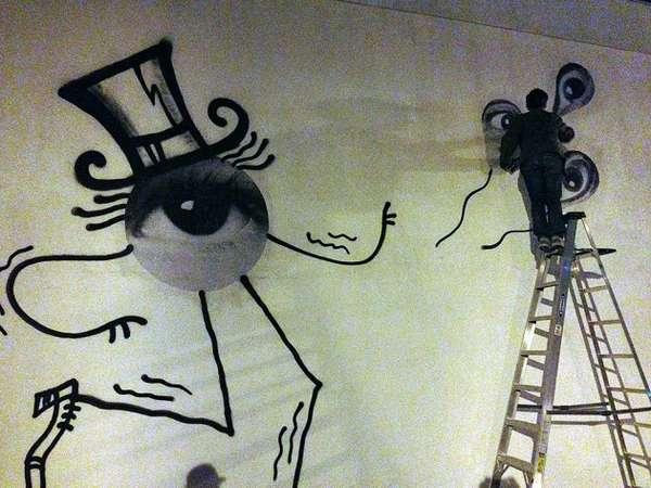 Impromptu Eyeball Murals