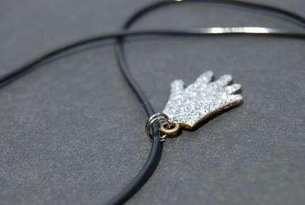Sparkly Glove Necklaces