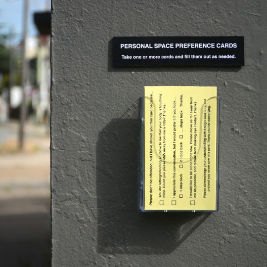 Personal Space Cards