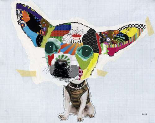 Paper Scrap Pooch Collages