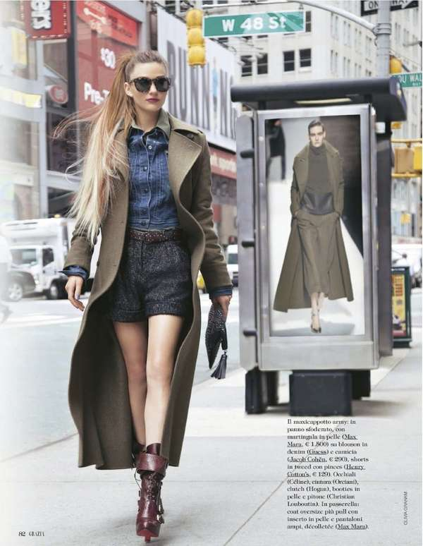 Michelle Mccallum for Grazia Italy August 2012