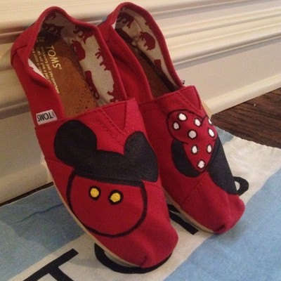 Minimalist Disney Mice Shoes