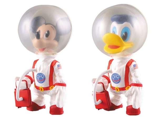 Iconic Cartoons as Astronauts