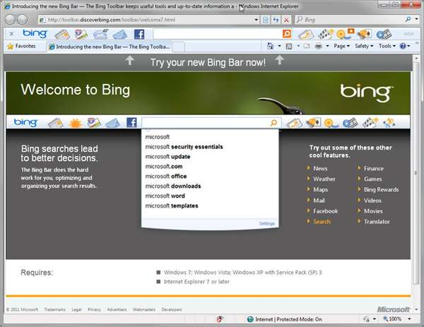 Microsoft Bing Bar 7