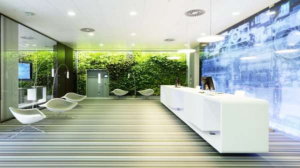 High Tech Greenery Offices Microsoft Vienna Headquarters