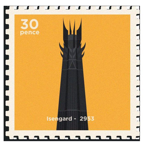 Minimalist Fantasy Stamps