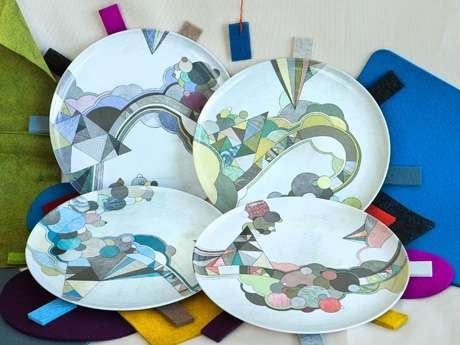 Abstract Geometric Dishes
