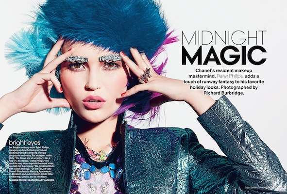Bejeweled Eyebrow Editorials