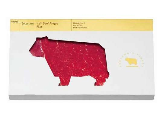 Cow-Shaped Steaks