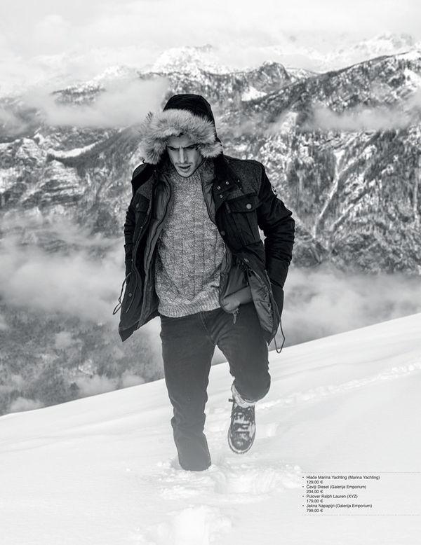 Snowy Mountain Climber Captures