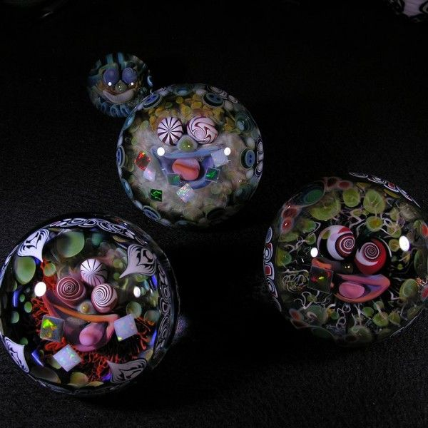 Vibrant Psychedelic Marbles