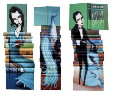 Stacked Book Portraits