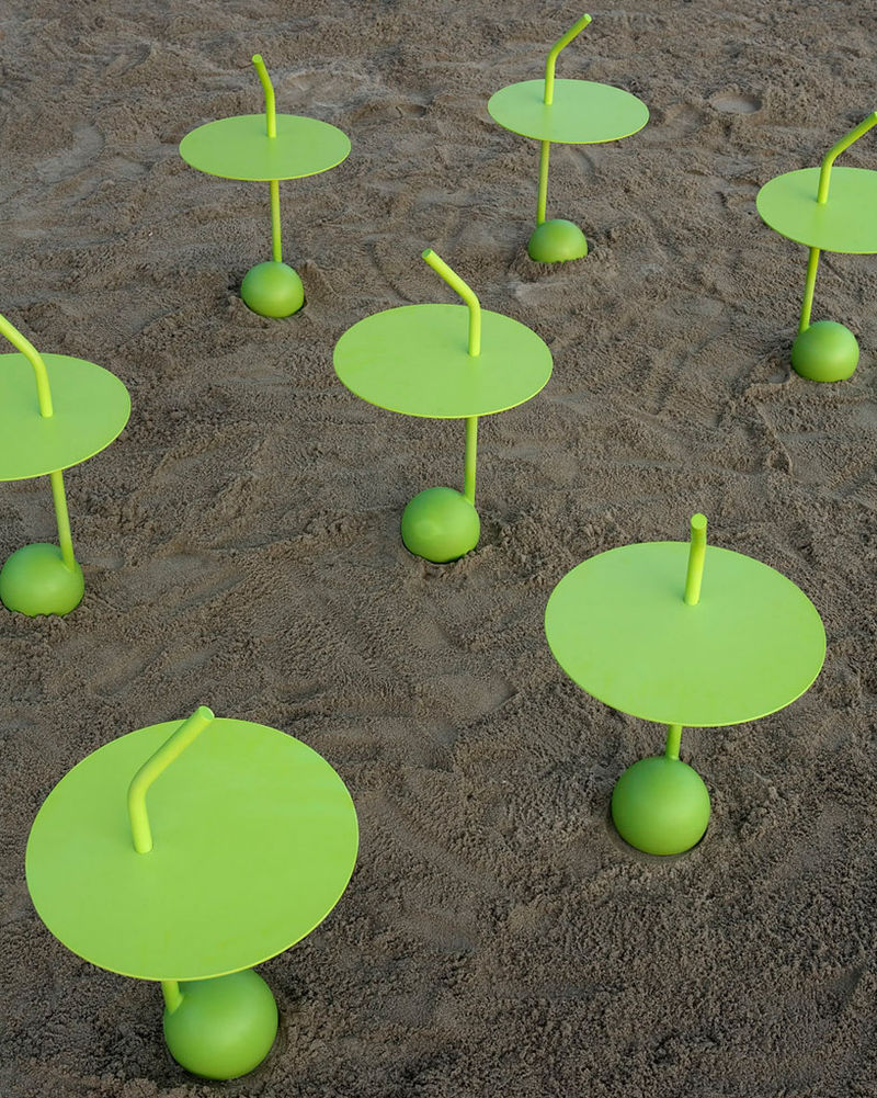 Lime-Green Urban Furniture