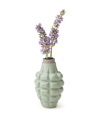 Military-Inspired Flower Vases