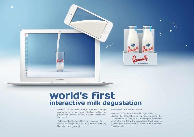 Multi-Screen Milk Ads